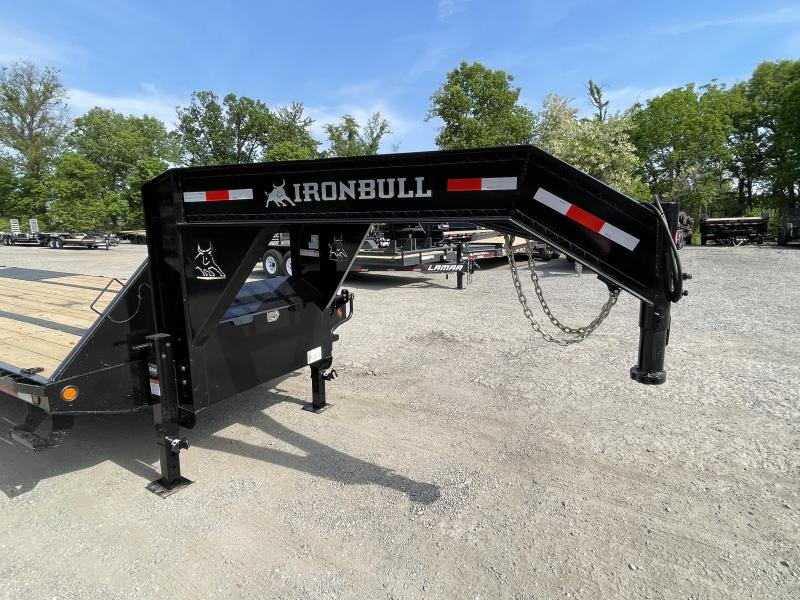 2022 Ironbull 102x32' Gooseneck Beavertail Deckover Trailer 22000# GVW * 14-PLY TIRE UPG * DEXTER 10K AXLES * HDSS SUSPENSION * FULL WIDTH RAMPS * PIERCED FRAME * SPARE TIRE * UNDER FRAME BRIDGE * RUBRAIL/STAKE POCKETS/PIPE SPOOLS/D-RINGS * DUAL JACKS