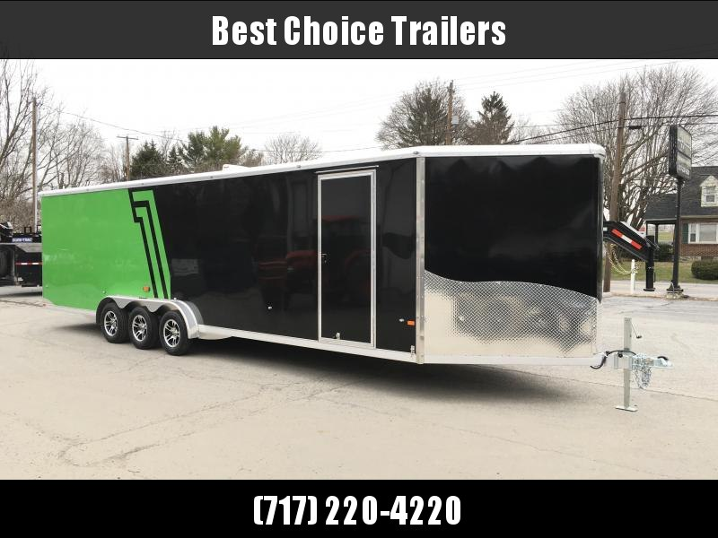 NEO 7.5x33' Aluminum Enclosed All-Sport Trailer 9990# GVW LOADED * UTV * ATV * Motorcycle * SNOWMOBILE