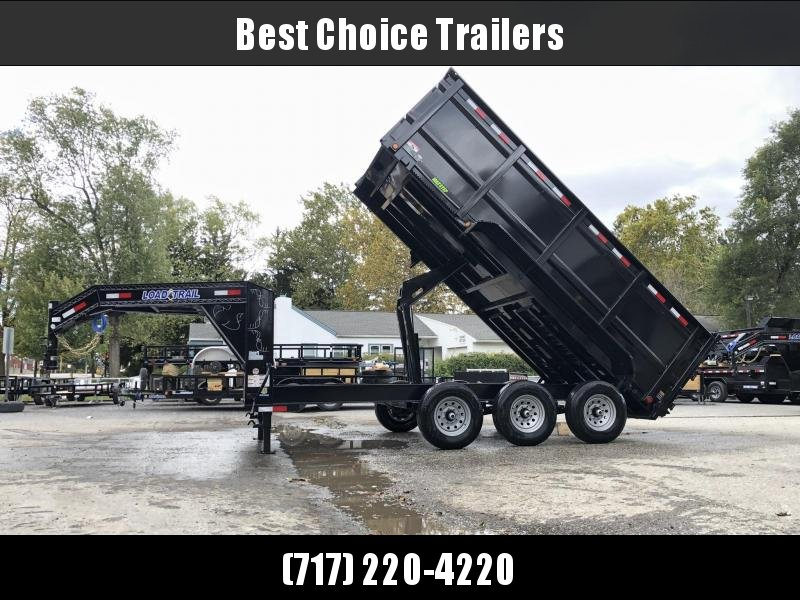 "2020 Load Trail 7x16' Gooseneck High Side Dump Trailer 21000# GVW * 4' HIGH SIDES * DUAL 12K JACKS * OVERSIZE 6X21.5 HOIST * 3-WAY GATE * I-BEAM FRAME * TARP KIT * 6"" TUBE BED FRAME * 10GA SIDES/FLOOR * INTEGRATED KEYWAY * POWDER PRIMER * DEXTER'S"