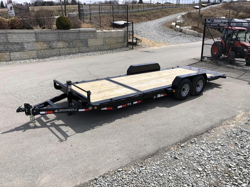2021 Ironbull 7x16+2 Gravity Tilt Equipment Trailer 14000# TORSION * STOP VALVE