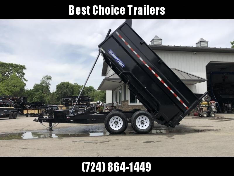 2021 Sure-Trac 7x14' Dump Trailer 14000# GVW * TARP KIT * 4' HIGH SIDES * TELESCOPIC HOIST * 12K JACK * FRONT/REAR BULKHEAD * INTEGRATED KEYWAY * UNDERBODY TOOL TRAY * ADJUSTABLE COUPLER * 110V CHARGER * UNDERMOUNT RAMPS * COMBO GATE