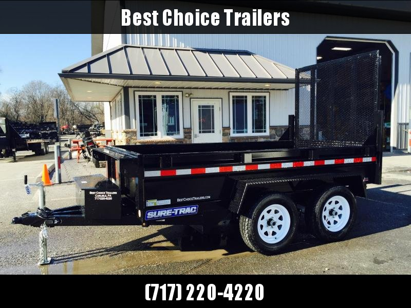 2021 Sure-Trac 5x10' Tandem Axle Dump Trailer 7000# GVW * LANDSCAPE GATE * INTEGRATED KEYWAY * SPARE MOUNT * TARP PREP * D-RINGS * DIAMOND PLATE FENDERS * POWER UP/ DOWN * TRIPLE TUBE TONGUE * BULLET LED'S * RADIALS