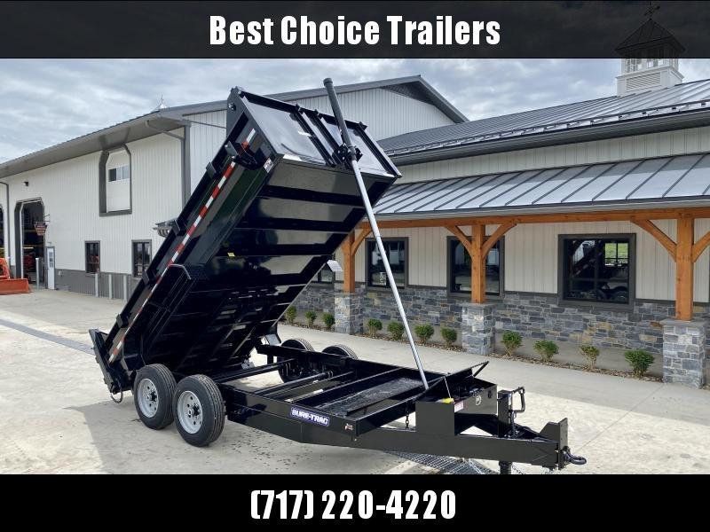 "2022 Sure-Trac 7x14' HD Dump Trailer 16000# GVW * 8000# AXLES * 17.5"" RUBBER * TELESCOPIC HOIST * FRONT/REAR BULKHEAD * INTEGRATED KEYWAY * UNDERBODY TOOL TRAY * HD 4-BOLT COUPLER * 110V CHARGER * UNDERMOUNT RAMPS * COMBO GATE * 12K DROP LEG JACK * SPARE"