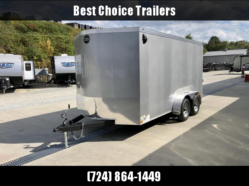"2020 Wells Cargo 7x14' Enclosed Motorcycle Trailer 7000# GVW * SILVER EXTERIOR * 6'6"" INTERIOR HEIGHT * D-RINGS * SCREWLESS * STABILIZER JACKS * WHEEL CHOCK * TRANSITION PLATE * RAMP DOOR * RV DOOR"