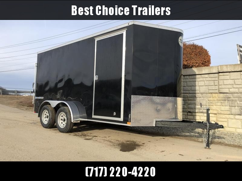 "2020 Wells Cargo 7x12' Road Force Enclosed Cargo Trailer 7000# GVW * WHITE EXTERIOR * RAMP DOOR * V-NOSE * SCREWLESS .030 EXTERIOR * 6'6"" HEIGHT * TUBE STUDS * 1 PC ROOF * 16"" O.C. WALLS/FLOOR * RV DOOR * ARMOR GUARD * BULLET LED'S"