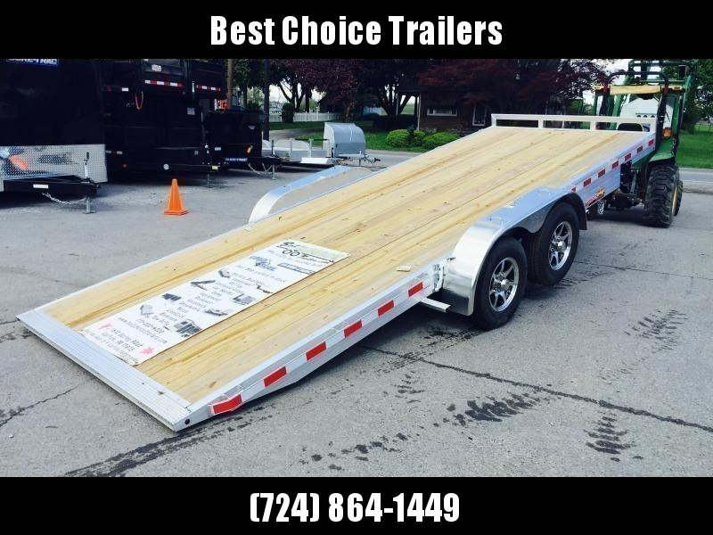 "2021 H&H 7x18' Aluminum Power Tilt Car Hauler Trailer 7000# GVW * POWER TILT * ALUMINUM TOOLBOX * 6"" TONGUE AND FRAME * REMOVABLE FENDERS * ALUMINUM WHEELS * DROP JACK * CLEARANCE"