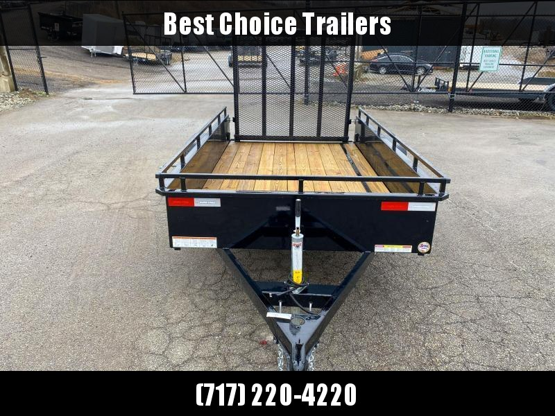 """2021 Sure-Trac 5x8' Solid Side Utility Landscape Trailer 2990# GVW * 2X2"""" TUBE GATE C/M + SPRING ASSIST * FOLD FLAT GATE * TOOLESS GATE REMOVAL * SPARE MOUNT * PROTECTED WIRING * SET BACK JACK * TRIPLE TUBE TONGUE * HD FENDERS * TUBE BUMPER * HIGH SIDE"""