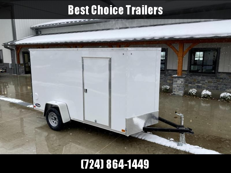 """2021 ITI Cargo 6x12' Enclosed Cargo Trailer 2990# GVW * WHITE EXTERIOR * .030 SEMI-SCREWLESS * 1 PC ROOF * 3/8"""" PLYWOOD WALLS * 3/4"""" FLOOR * 16"""" STONEGUARD * HIGH GLOSS PAINTED FRAME"""