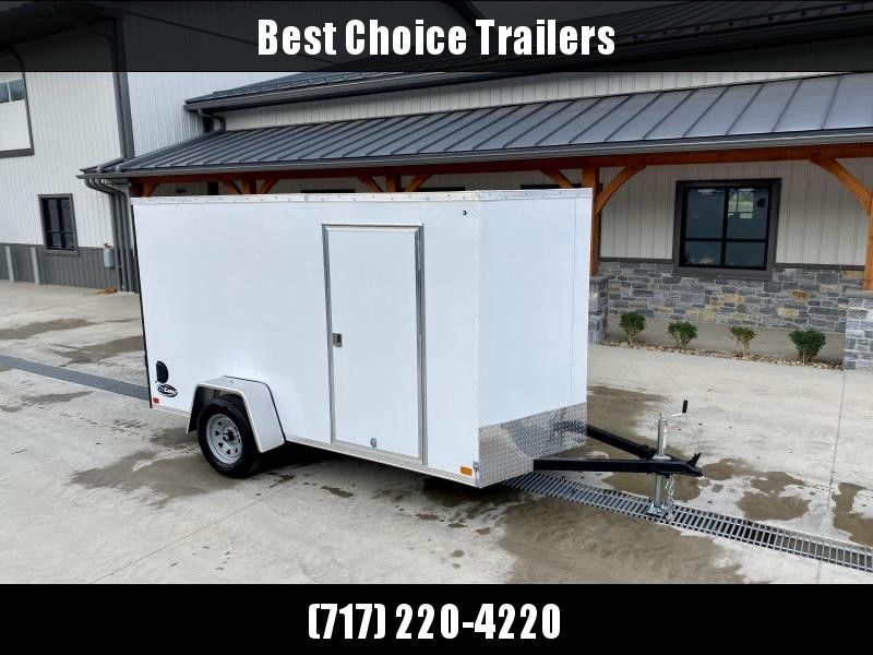 """2022 ITI Cargo 6x12' Enclosed Cargo Trailer 2990# GVW * WHITE EXTERIOR * .030 SEMI-SCREWLESS * 1 PC ROOF * 3/8"""" WALLS * 3/4"""" FLOOR * 16"""" STONEGUARD * HIGH GLOSS PAINTED FRAME"""