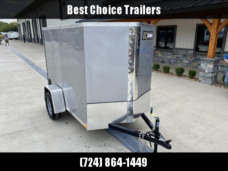 "2021 ITI Cargo 5x8' Enclosed Cargo Trailer 2990# GVW * SILVER EXTERIOR * .030 SEMI-SCREWLESS * 1 PC ROOF * 3/8"" WALLS * 3/4"" FLOOR * 16"" STONEGUARD * HIGH GLOSS PAINTED FRAME"