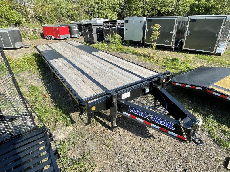 "2021 Load Trail 102x25' HD Deckover Trailer 22000# GVW * SLIDE IN RAMPS * HD PINTLE COUPLER * HDSS SUSPENSION * 12""/19# I-BEAM FRAME * CHANIN TRAY * DUAL JACKS * SPARE MOUNT * DEXTER'S * PRIMER * 2-3-2 WARRANTY"