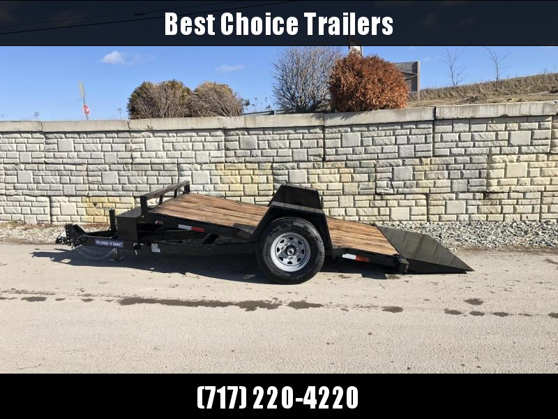 "2021 Sure-Trac 78""x12' 7000# GVW Tilt Equipment Trailer Scissor Hauler * OAK DECK * TOOLBOX"