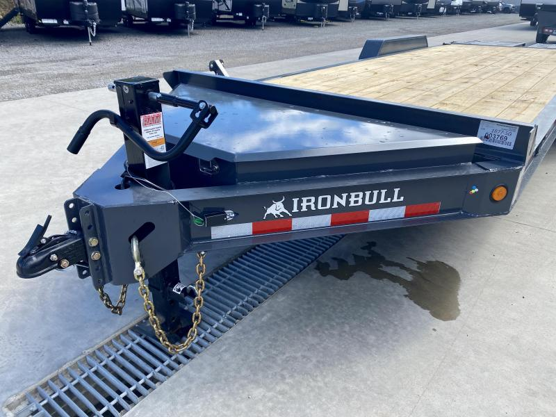 """2022 Iron Bull 7x22' Equipment Trailer 14000# GVW * FULL WIDTH RAMPS * 8"""" I-BEAM FRAME * OVERSIZE TOOLBOX * DEXTER AXLES * HD COUPLER"""