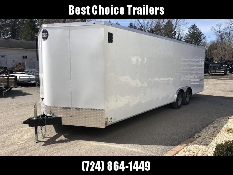 "2020 Wells Cargo 8.5x24' Fastrac DELUXE Enclosed Cargo Trailer 9990# GVW * WHITE EXTERIOR * 5200# AXLES * RAMP DOOR * V-NOSE * .030 EXTERIOR * 6'6"" HEIGHT * TUBE STUDS * 3/8"" WALLS * 1 PC ROOF * 16"" O.C. WALLS * BULLET LED'S"