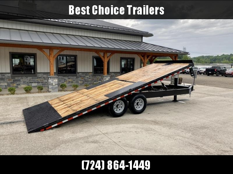 """2021 Sure-Trac 102x22' Power Tilt Deckover 15000# GVW * HYDRAULIC JACK * WINCH PLATE * OAK DECK UPGRADE * 10"""" I-BEAM MAINFRAME * 6"""" TUBE SIDE RAIL * RUBRAIL/STAKE POCKETS/PIPE SPOOLS/8 D-RINGS * LOW LOAD ANGLE"""