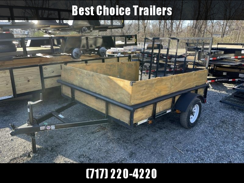USED 2018 Carry-On 6x8' Utility Landscape Trailer 2990# GVW * PIPE TOP * HIGH SIDES