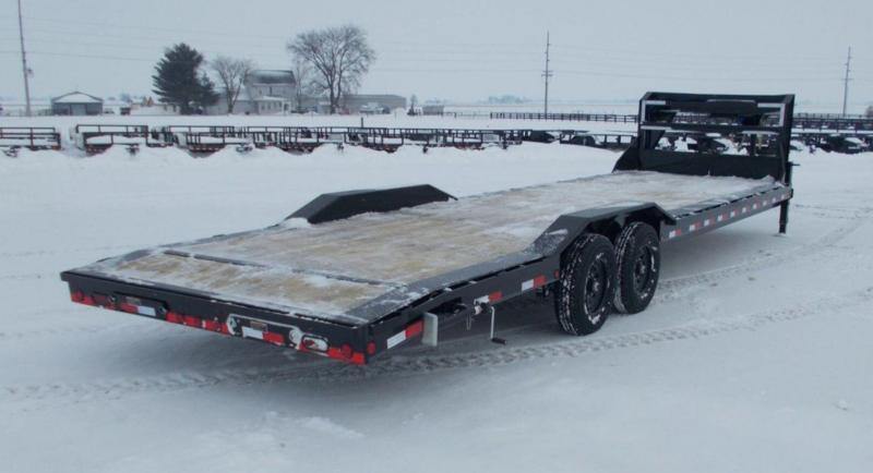 "2021 Load Trail 102x32' Gooseneck Car Hauler Trailer 14000# GVW * 102"" DECK * DRIVE OVER FENDERS * OVERLENGTH 7' SLIDE IN RAMPS * WINCH PLATE * RUBRAIL * UNDER FRAME BRIDGE * DUAL JACKS * FULL TOOLBOX * POWDER PRIMER * 2-3-2 WARRANTY"