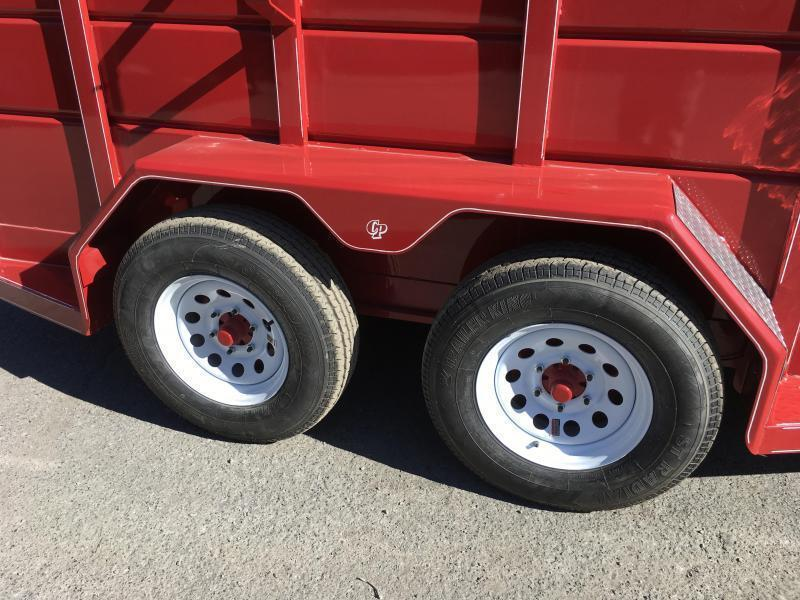 2020 Corn Pro 16' Livestock Trailer 7000# GVW * RED * DEXTER TORSION * CENTER AND REAR SLAM GATES * CENTER DIVIDER  * BULLDOG JACK/COUPLER