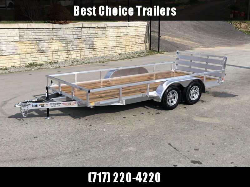 2020 Sure Trac 7x14' Tube Top Aluminum Utility Landscape Trailer 7000# GVW * ALUMINUM WHEELS * BI-FOLD GATE