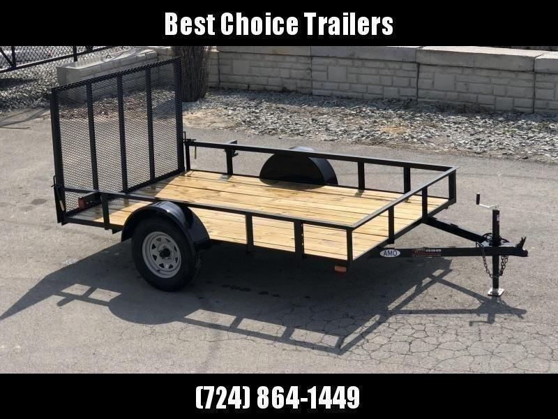 """2022 AMO 78x12' Utility Landscape Trailer 2990# GVW * 4' GATE * TOOLESS GATE REMOVAL * 3500# AXLE * 15"""" RADIAL TIRES * CLEARANCE"""