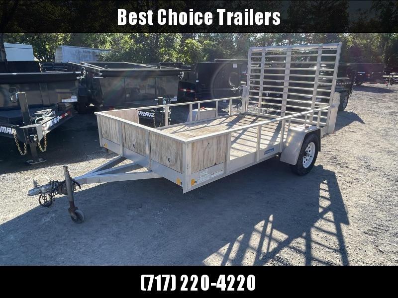 USED 2011 MTI Trailers 6x12 Aluminum Utility Landscape Trailer 2990# GVW * TUBE FRAME * REAR JACKSTANDS * HIGH SIDES