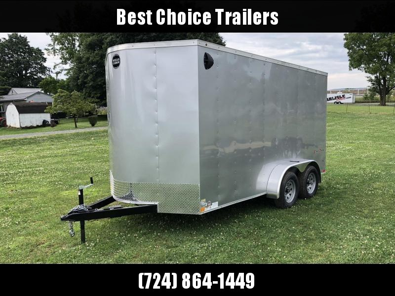 """2021 Wells Cargo 7x14' Fastrac DELUXE Enclosed Cargo Trailer 7000# GVW * SILVER EXTERIOR * RAMP DOOR * V-NOSE * .030 EXTERIOR * 6'6"""" HEIGHT* TUBE STUDS * 3/8"""" WALLS * 1 PC ROOF * 16"""" O.C. WALLS * BULLET LED'S"""