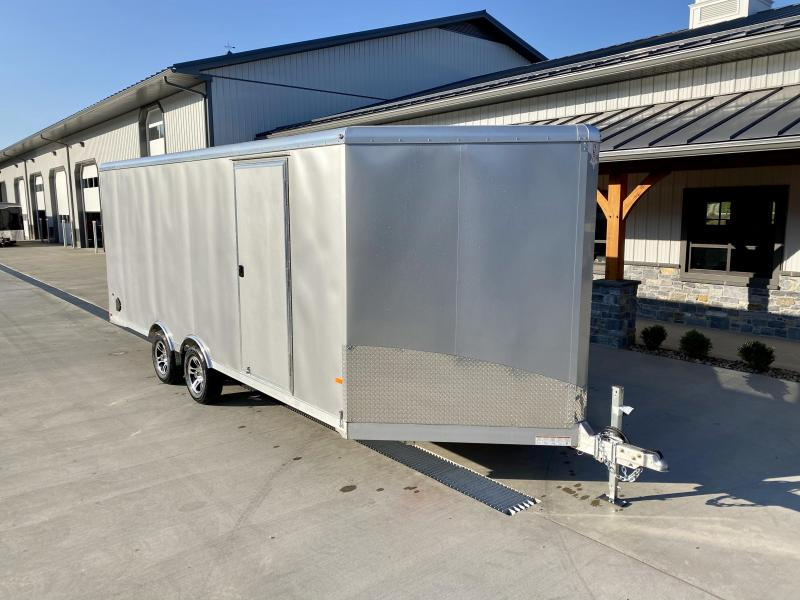 2021 NEO 8.5x20' NMS Aluminum Enclosed All Sport Car Hauler Trailer 7000# GVW * FINISHED WALLS * ALUMINUM WHEELS * ROUND TOP