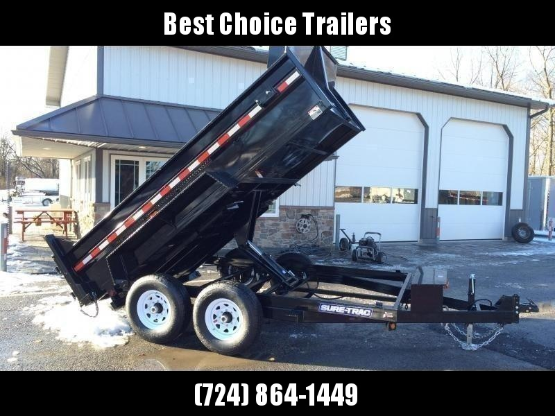 2021 Sure-Trac 7x12' Dump Trailer 12000# GVW * DELUXE TARP KIT * SCISSOR HOIST * FRONT/REAR BULKHEAD * INTEGRATED KEYWAY * 2' SIDES * UNDERBODY TOOL TRAY * ADJUSTABLE COUPLER * 110V CHARGER * UNDERMOUNT RAMPS * COMBO GATE * 7K DROP LEG JACK * CLEARANCE