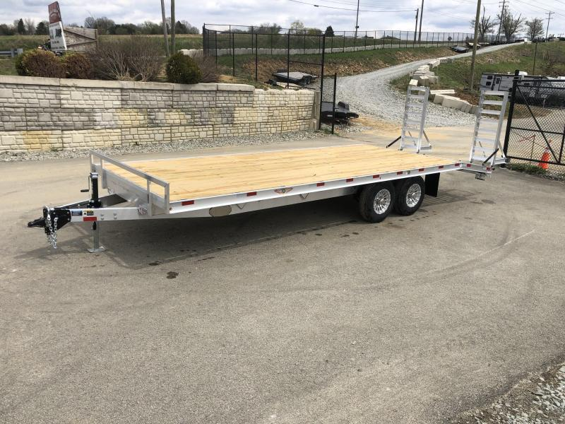2021 H and H 102x20' Aluminum Beavertail Deckover Trailer 9900# GVW * ALUMINUM STAND UP RAMPS W/ SPRING ASSIST * STACKED CHANNEL FRAME * CHANNEL C/M * 12K JACK * ADJUSTABLE COUPLER * SELF CLEANING ALUMINUM DOVETAIL * ALUMNIUM WHEELS
