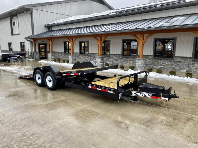 2021 Corn Pro 7x19+4 Gravity Tilt Equipment Trailer 12000# GVW * TORSION SUSPENSION * LOW LOAD ANGLE * TOOLBOX * HD COUPLER * URETHANE PAINT * SPARE TIRE MOUNT * LED LIGHTING * 12K DROP LEG JACK * RUBRAIL/STAKE POCKETS
