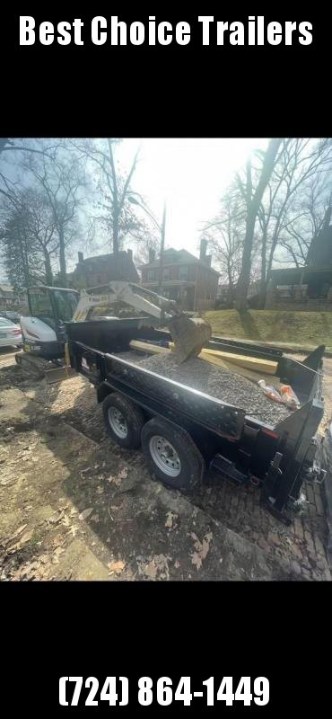 USED 2020 Forest River 7x12' Dump Trailer 12000# GVW * TARP KIT * RAMPS * FRONT/REAR BULKHEAD