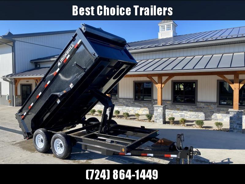 2022 Ironbull 7x14' High Side Dump Trailer 14000# GVW * 12K JACK * 7 GA FLOOR * RAMPS * TARP * SCISSOR * SPARE MT * 3' HIGH SIDES * CLEARANCE