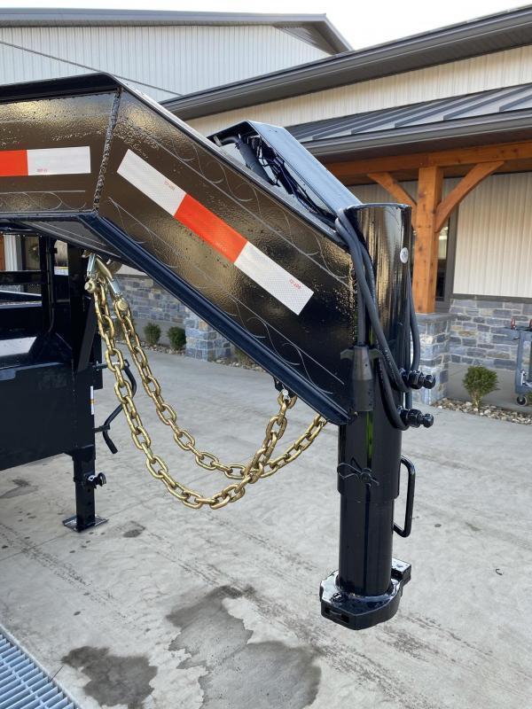 2021 Ironbull 8x16' Gooseneck Deckover Dump Trailer 21000# GVW * TARP KIT * I-BEAM FRAME * BED RUNNERS * FULL FRONT TOOLBOX * DUAL JACKS * FOLD DOWN SIDES * 5x20 SCISSOR * INTGRATED KEYWAY/10GA WALLS