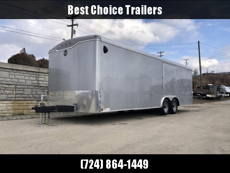 "2020 Wells Cargo 8.5x24' Road Force Enclosed Car Trailer 9990# GVW * BLACK EXTERIOR * ESCAPE DOOR * 5200# DEXTER TORSION AXLES * RAMP DOOR * ROUND TOP * SCREWLESS .030 EXTERIOR * 6'6"" HEIGHT * TUBE STUDS * 1 PC ROOF * RV DOOR * ARMOR GUARD * TRIPLE TONGU"