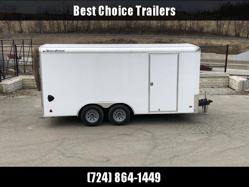 "2021 Wells Cargo 8.5x16' Road Force Enclosed Cargo Trailer 9990# GVW * SILVER EXTERIOR * 5200# AXLES * RAMP DOOR * ROUND TOP * SCREWLESS .030 EXTERIOR * 6'6"" HEIGHT * TUBE STUDS * 1 PC ROOF * 16"" O.C. WALLS/FLOOR * RV DOOR * ARMOR GUARD * TRIPLE TONGUE"