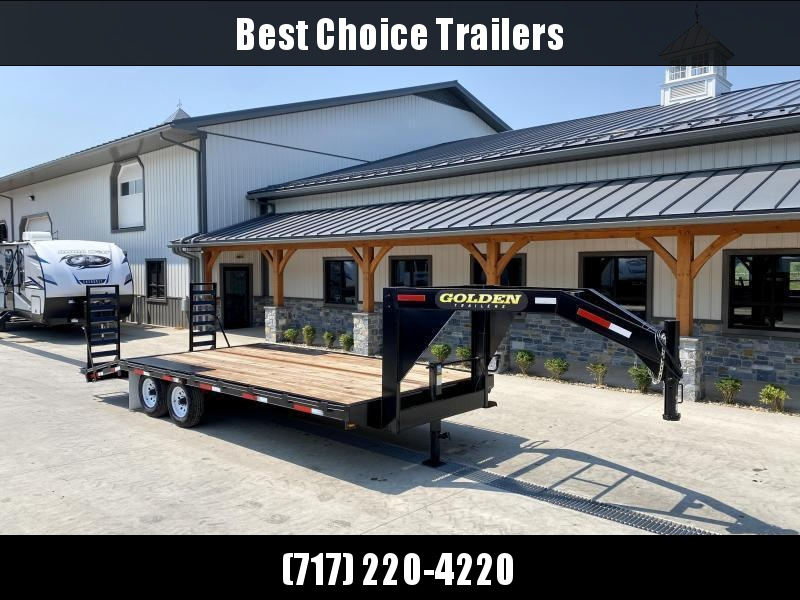 2022 Golden by Corn Pro 102x20 Gooseneck Beavertail Deckover Trailer 12000# GVW * STAND UP RAMPS + SPRING ASSIST * RUBRAIL/STAKE POCKETS * SPARE TIRE MOUNT * MUDFLAPS * CHAIN TRAY * CLEARANCE