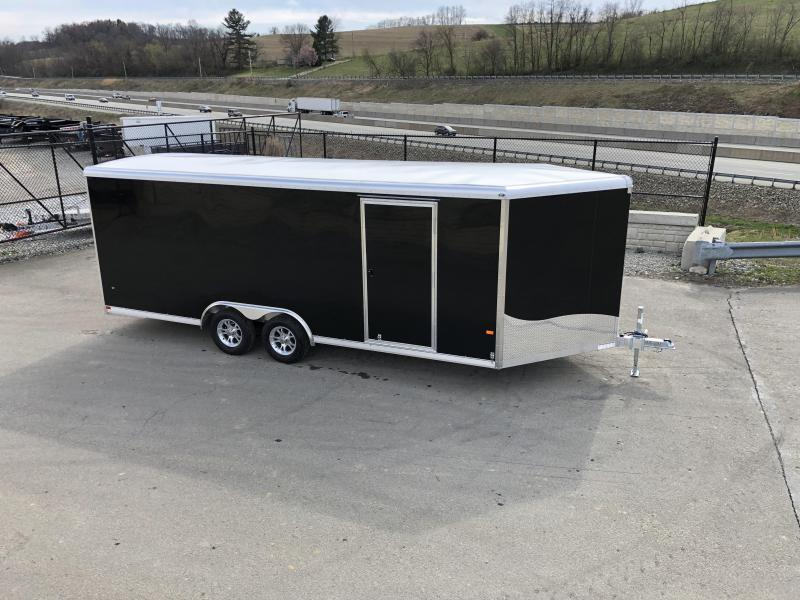 2021 NEO 8.5x18' Aluminum Enclosed Car Hauler Trailer 7000# GVW * ROUND TOP * NXP RAMP * ALUMINUM WHEELS * BLACK * ESCAPE HATCH