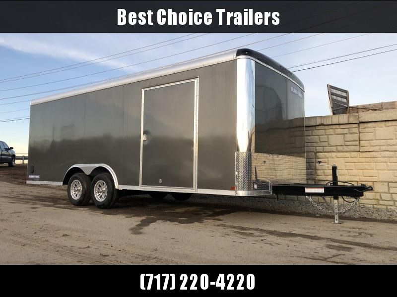 2021 Sure-Trac 8.5x20' 9900# STRCH Commercial Enclosed Cargo Trailer * ROUND TOP * RAMP DOOR  * CHARCOAL * TORSION