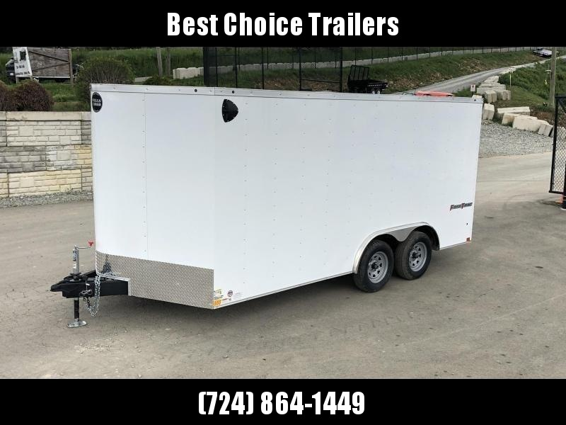 2020 Wells Cargo 8.5x16' Fastrac DELUXE Enclosed Car Trailer 7000# GVW *  CHARCOAL EXTERIOR * RAMP DOOR