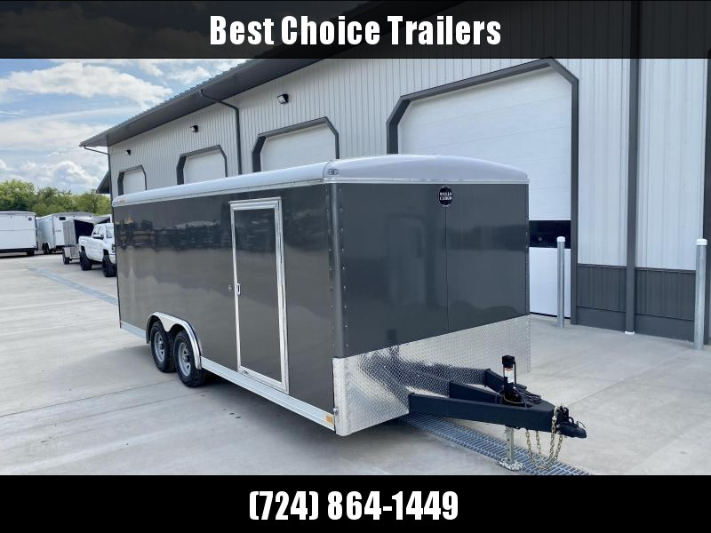 "2020 Wells Cargo 8.5X20' Wagon HD Commercial Landscape Enclosed Trailer 9990# GVW * SILVER * 6'8"" INTERIOR HEIGHT * .030 EXTERIOR * HD RAMP DOOR * TRIPLE TUBE TONGUE * ADJUSTABLE COUPLER * D-RINGS * TORSION SUSPENSION * 7K JACK"