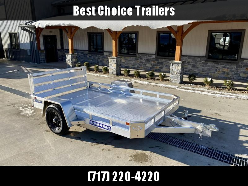 2021 Sure-Trac 7x10' All Aluminum Utility Landscape Trailer 2990# GVW * TORSION * EXTRUDED FLOOR * EXTENDED 4.5' BI FOLD GATE * LOW L * CLEARANCEOAD ANGLE! * SUPER LIGHTWEIGHT
