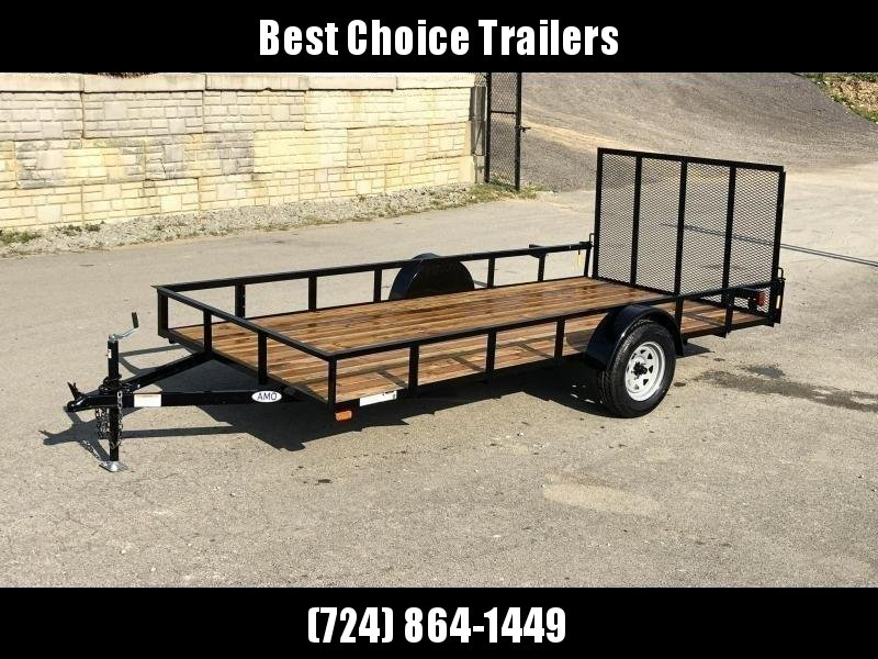 """2021 AMO 78x14' Utility Landscape Trailer 2990# GVW * 4' GATE * TOOLESS GATE REMOVAL * 3500# AXLE * 15"""" RADIAL TIRES * CLEARANCE"""