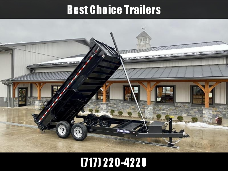 2021 Sure-Trac 7x16' Dump Trailer 14000# GVW * DELUXE TARP KIT * 7 GA FLOOR * HYDRAULIC JACK * TELESCOPIC HOIST * FRONT/REAR BULKHEAD * INTEGRATED KEYWAY * 2' SIDES * UNDERBODY TOOL TRAY * ADJUSTABLE COUPLER * UNDERMOUNT RAMPS * COMBO GATE
