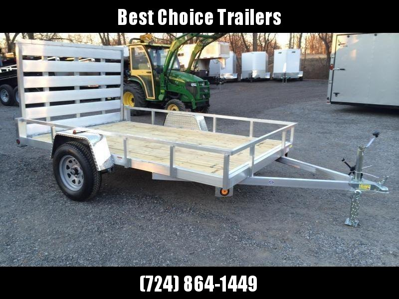 "2021 QSA 6x12' Aluminum Utility Landscape Trailer 2990# GVW * STANDARD MODEL * TUBE FRAME AND TONGUE * SPARE MOUNT * TIE DOWNS * 4' FOLD IN GATE * LED'S * FENDER GUSSETS * 3500# AXLE * 15"" TIRES * TUBE TOP RAIL"