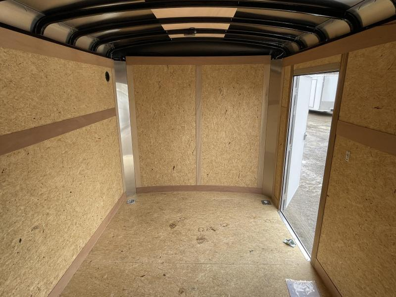 "2021 Wells Cargo 7x14' Road Force Enclosed Cargo Trailer 7000# GVW * SILVER EXTERIOR * BARN DOORS * ROUND TOP * SCREWLESS .030 EXTERIOR * 6'6"" HEIGHT * TUBE STUDS * 1 PC ROOF * 16"" O.C. WALLS/FLOOR * RV DOOR * ARMOR GUARD * BULLET LED'S"