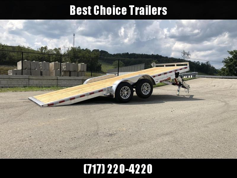 "2021 H&H 7x20' Aluminum Tilt Car Hauler Trailer 9990# GVW * 8"" CHANNEL FRAME * REMOVABLE FENDERS * ALUMINUM WHEELS * DROP JACK * INTEGRATED TAIL LIGHTS"