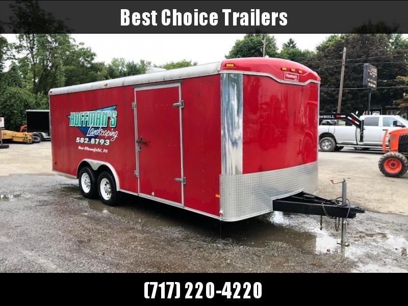 USED Haulmark 8.5x20' Enclosed Car Hauler Trailer 9990# GVW * TORSION * 5200# AXLES * TUBE FRAME & STUDS * PLYWOOD WALLS & FLOOR