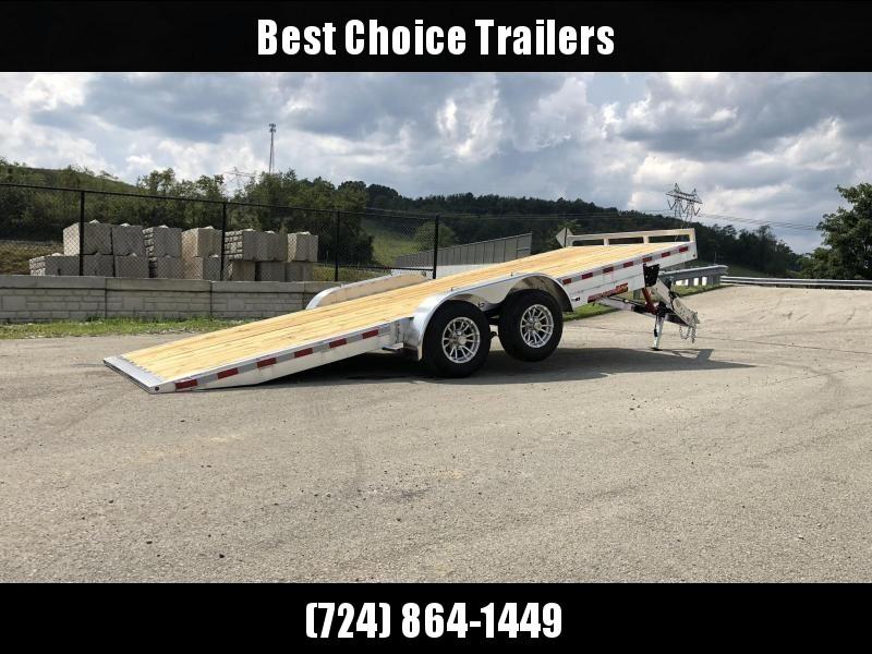 "2021 H&H 7x20' Aluminum Tilt Car Hauler Trailer 9990# GVW * 8"" CHANNEL FRAME * REMOVABLE FENDERS * ALUMINUM WHEELS * DROP JACK * INTEGRATED TAIL LIGHTS * CLEARANCE"