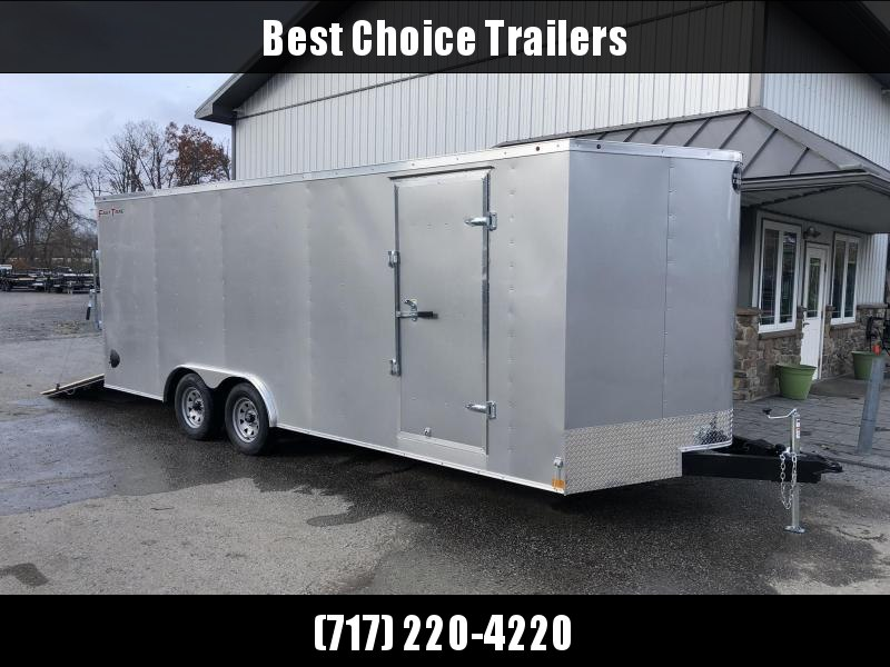 2021 Wells Cargo 8.5x20' Fastrac DELUXE Enclosed Car Trailer 7000# GVW * SILVER EXTERIOR * RAMP DOOR * .030 METAL