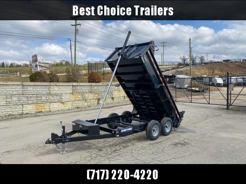 "2021 Sure-Trac 6x12' Dump Trailer 9900# GVW * TELESCOPIC HOIST UPGRADE * ADJUSTABLE COUPLER * UNDERMOUNT RAMPS * COMBO GATE * 7K DROP LEG JACK * FRONT/REAR BULKHEAD * INTEGRATED KEYWAY * SPARE MOUNT * HD FENDERS * 4"" TUBE BEDFRAME"